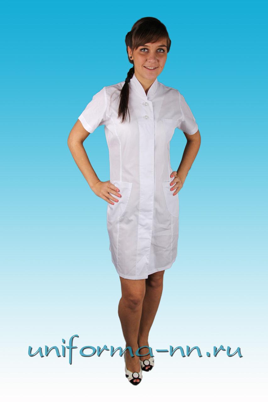 Купить медицинский халат большого размера 8